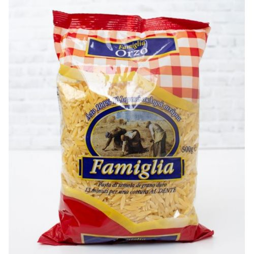 Макароны рисинки Famiglia Orzi, 500г