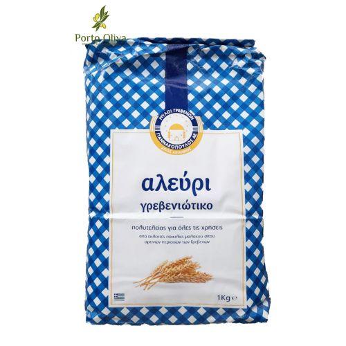 Мука из мягких сортов пшеницы Гревениотики домашняя, 1кг
