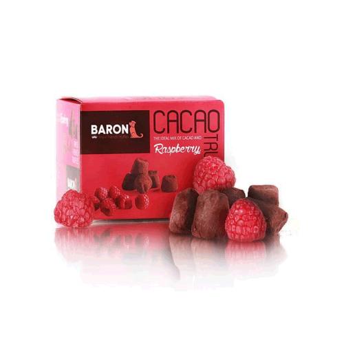 Шоколадные трюфели Baron с малиной, 100г