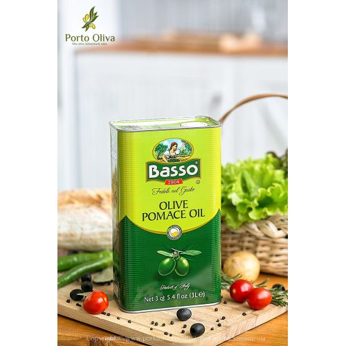 Масло оливковое BASSO Pomace olive oil, 3л