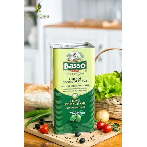 Масло оливковое BASSO Pomace olive oil, 5л