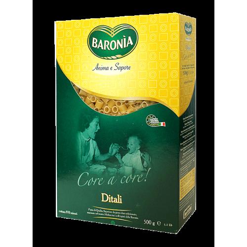 Макароны для детей Baronia Ditali Дитали (кольцо), 500г