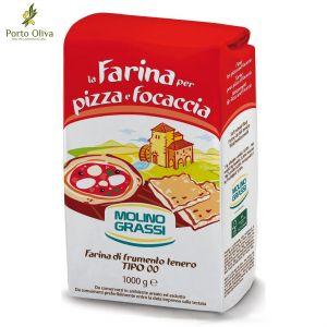 Мука для пиццы из мягких сортов пшеницы Molino Grassi тип 00, 1кг