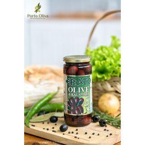 Оливки чёрные с косточкой Каламата ERATO, 500г