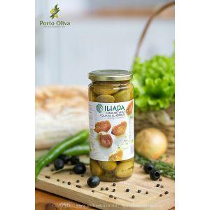 Оливки зелёные с травами Голиаф ILIADA, 500г