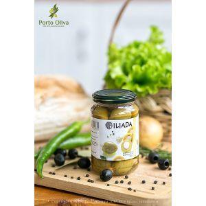 Оливки зелёные фаршированные миндалем ILIADA, 300г