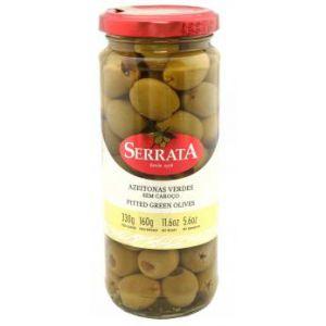 Оливки зелёные без косточки Serrata, 340г