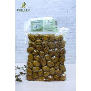 Оливки зелёные Халкидики с косточкой EVROS, 250г