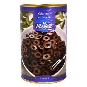 Оливки чёрные резанные Masiello, 4кг