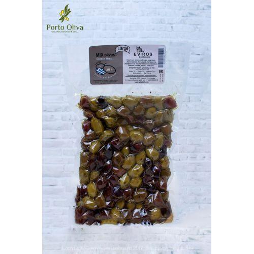 Оливковый микс с косточкой EVROS, 250г