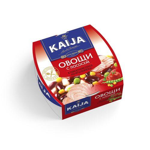 Овощи с лососем по-итальянски Kaija 220г