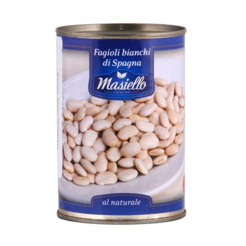 Фасоль консервированная белая Испанская Masiello, 400г