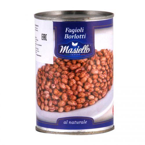 Фасоль консервированная Борлотти Masiello, 400г