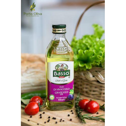 Масло виноградной косточки рафинированное Basso, 500мл