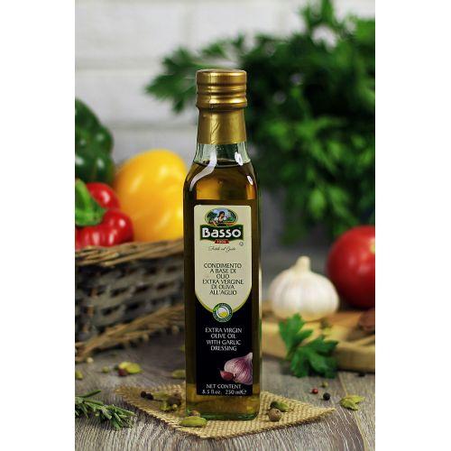 Оливковое масло с чесноком Basso, 250мл