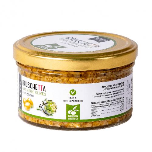 Соус Брушетта с оливками и артишоками EVROS, 150г