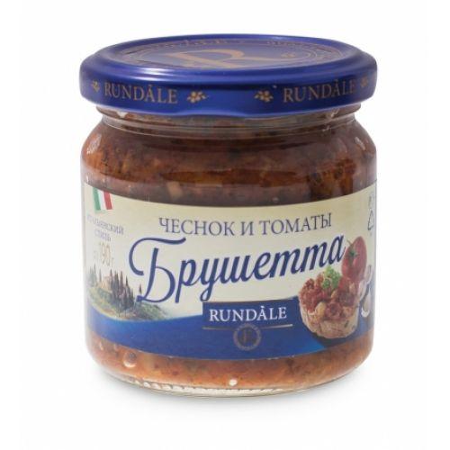 Соус Брушетта с чесноком и томатами Rundale, 190г