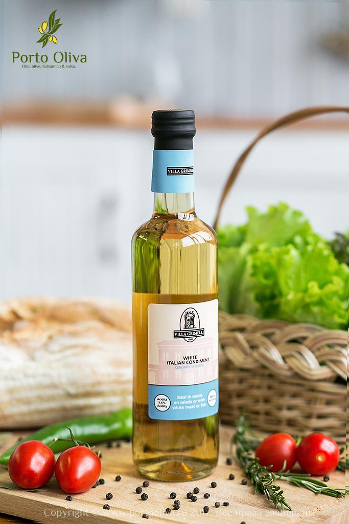 Заправка на основе белого винного уксуса Villa Grimelli 500мл фото