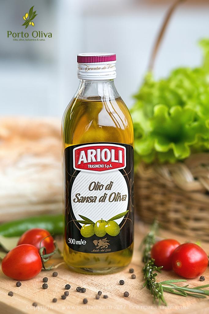 Масло оливковое для жарки ARIOLI (Pomace olive oil) 500мл фото