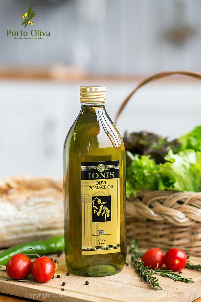 Масло оливковое IONIS (Pomace olive oil) 1л фотография