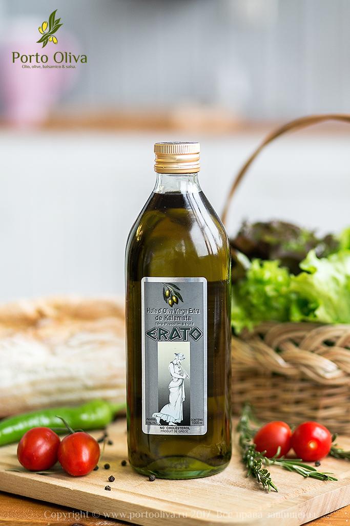 Масло оливковое холодного отжима Extra Virgin ERATO Kalamata 1л фото