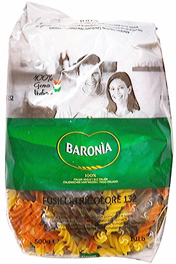 Макароны цветные Baronia Fusilli (Фузили) No.132, 500г фото