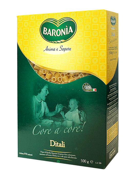 Макароны Baronia Ditali Дитали (кольцо) 500г фото