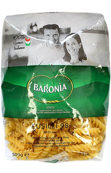 Макароны Baronia Fusilli (Фузили) No.98 500г фото