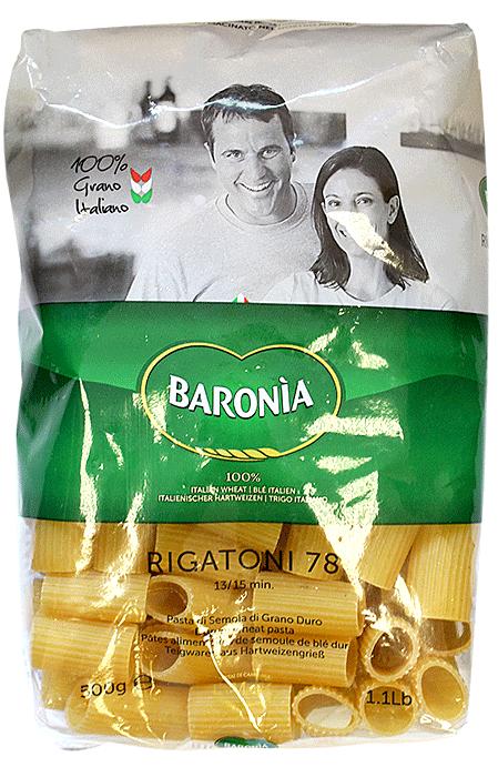 Макароны Baronia Rigatoni (Ригатони) No.78 500г фото