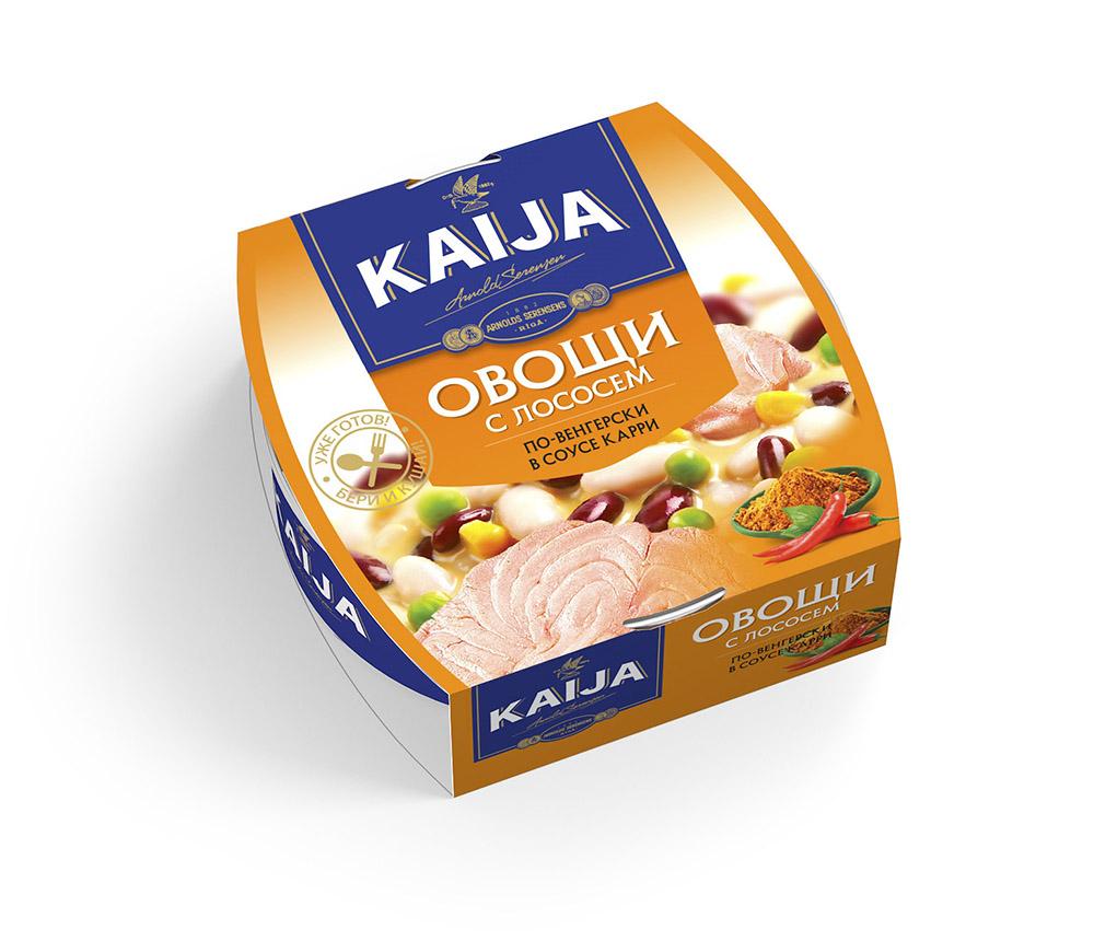 Овощи с лососем по-венгерски Kaija 220г фото