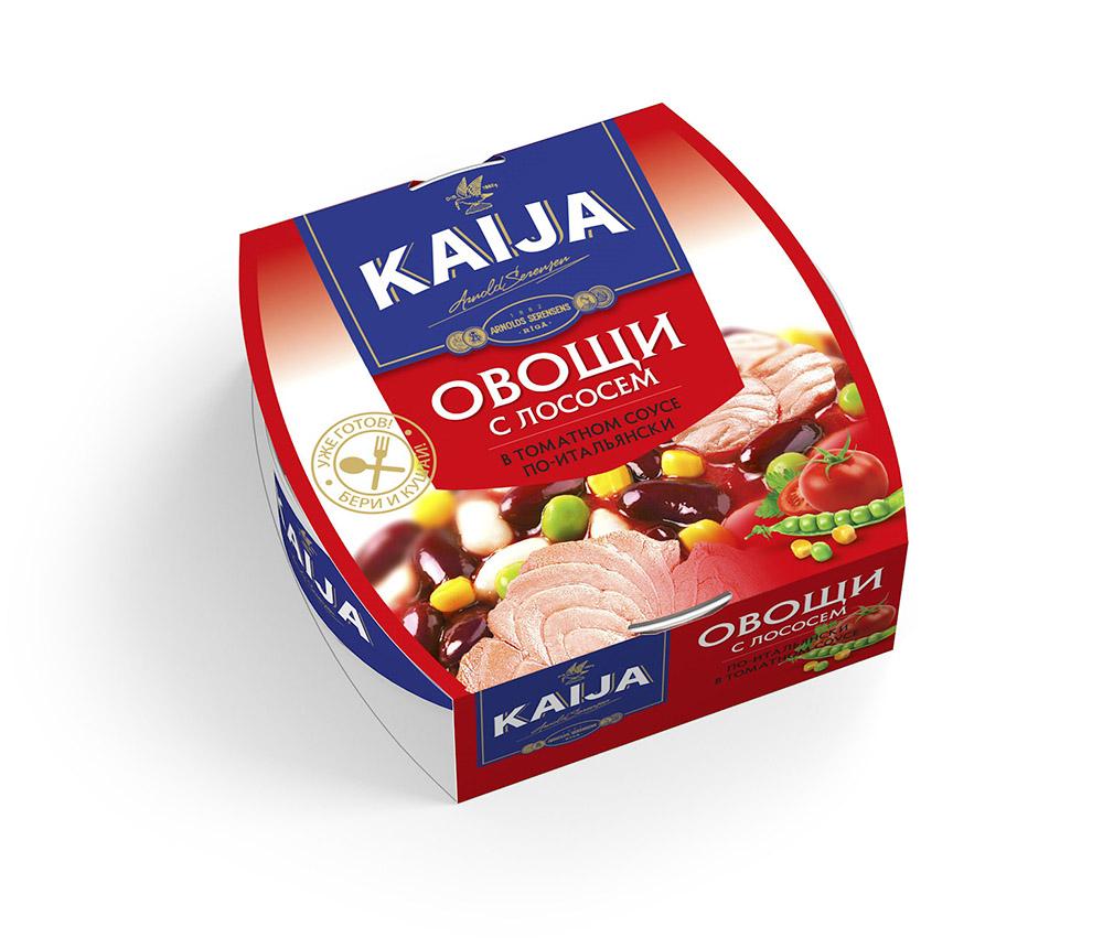 Овощи с лососем по-итальянски Kaija 220г фото