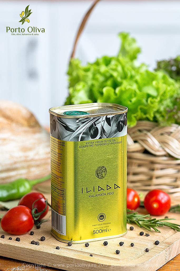 Масло оливковое премиум ILIADA PDO Kalamata 500мл фото