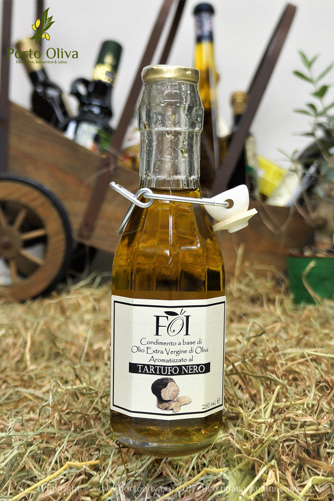 Оливковое масло с черным трюфелем FOI 250мл фото