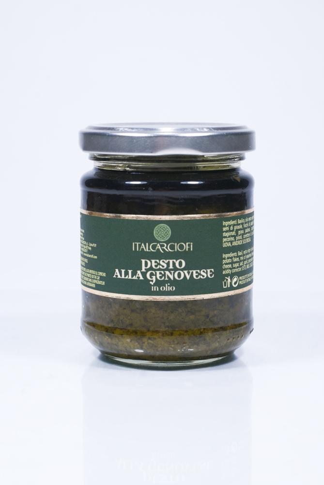 Соус песто из свежей зелени Дженовезе ItalCarciofi 185г фото
