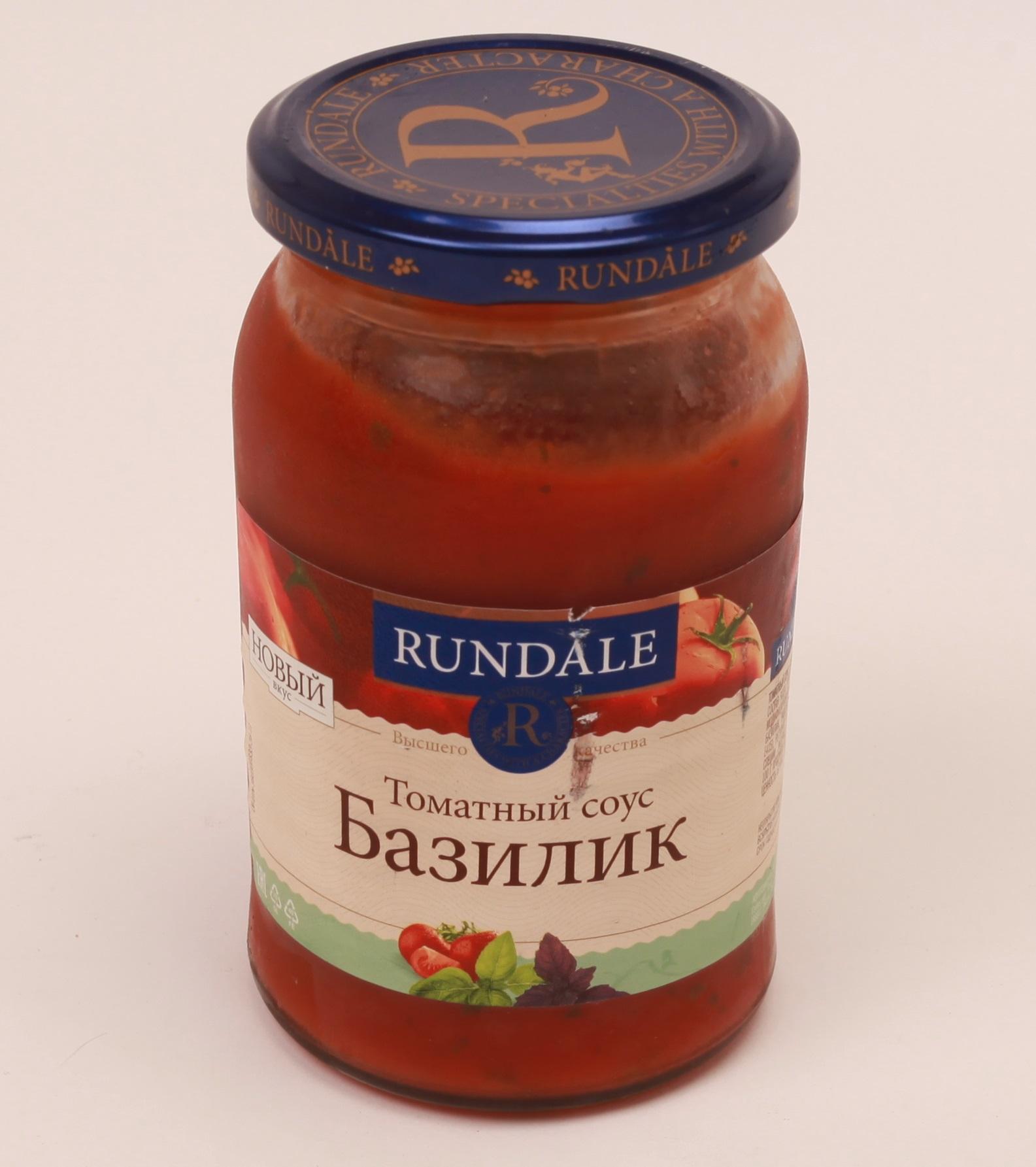 Соус томатный с Базиликом Rundale 380г фото