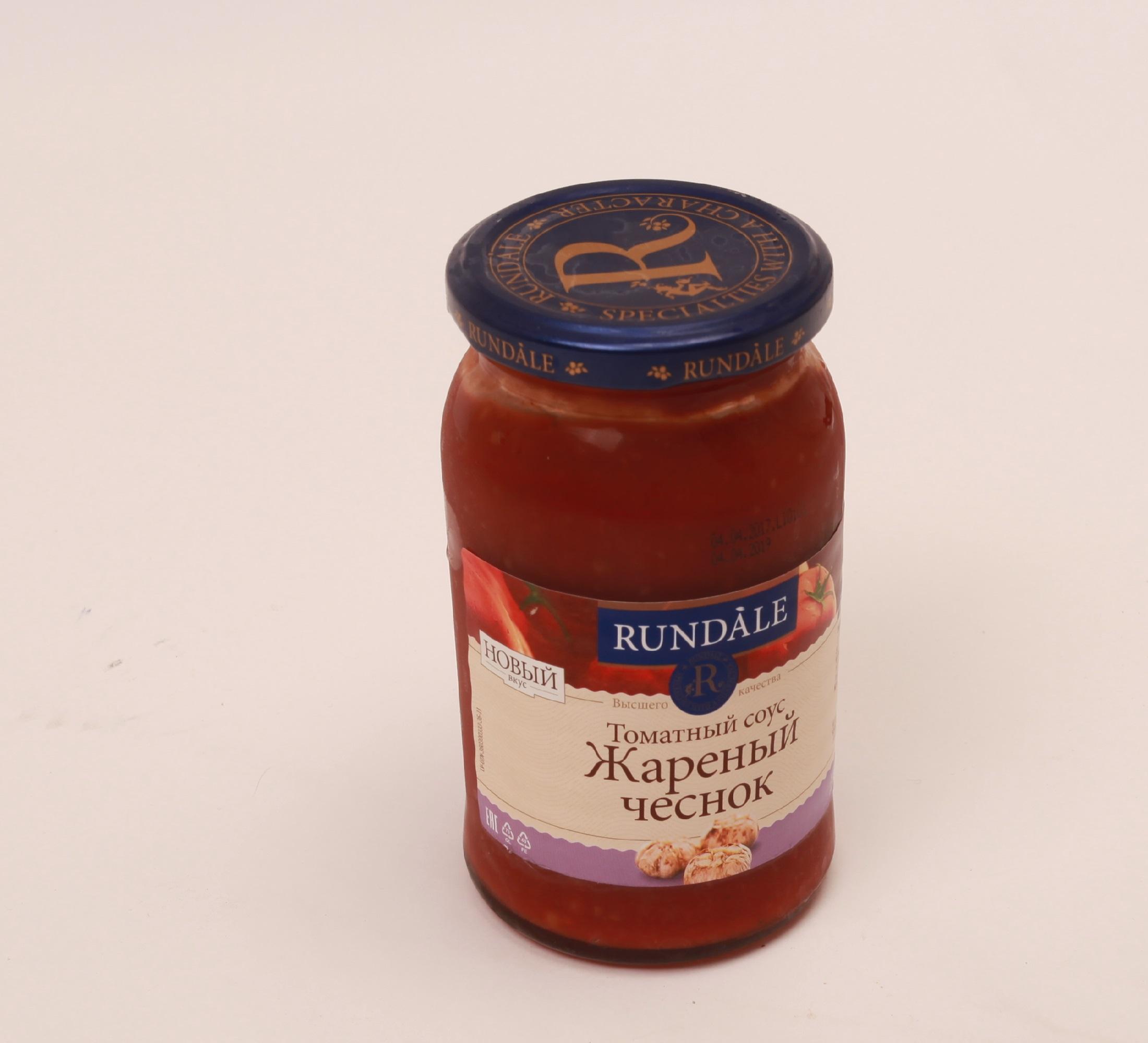 Соус томатный Жареный чеснок Rundale 400г фото