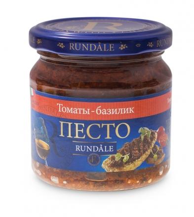 Соус песто с томатами и базиликом Rundale 180г фото