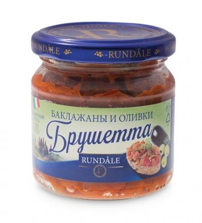 Соус Брушетта с баклажанами и оливками Rundale 180г фото