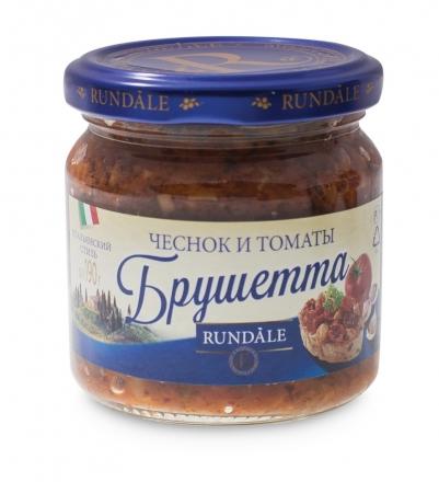 Соус Брушетта с чесноком и томатами Rundale 190г фото