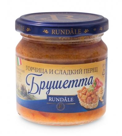 Соус Брушетта с горчицей и сладким перцем Rundale 180г фото